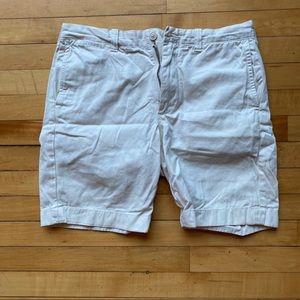 "J Crew Stanton 9"" shorts in off white/cream"